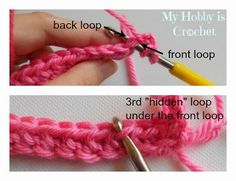 My Hobby Is Crochet: How to turn regular HDC stitches into knit alike stitches (working in rows and in rounds, color change and almost invisible seams)