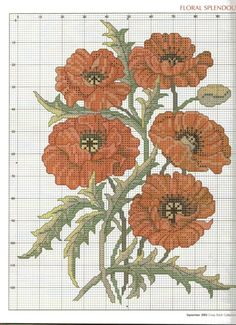 Gallery.ru / Фото #12 - 095 сентябрь 2003. - anfisa1 Cross Stitch Charts, Cross Stitch Designs, Cross Stitch Patterns, Cross Stitching, Cross Stitch Embroidery, Cross Stitch Collection, Butterfly Embroidery, Cross Stitch Flowers, Red Poppies