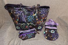 Sacs Samba, Be-Bop et Trousse Zip-Zip violets cousu par Liza - Patrons couture Sacôtin