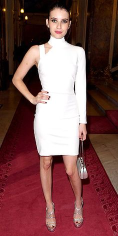 Emma Roberts in Versace at Fall 2014 Atelier Versace Presentation