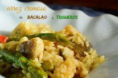 Cocinando en Mislares: Arroz cremoso de bacalao y trigueros