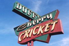 Our Cherry Creek Neighbors! Old Neon Signs, Cherry Creek, John Denver, Denver Colorado, Home And Away, Places To Eat, Cricket, Hamburgers, Duffy