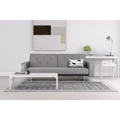 Inspired by a refined retro design, the Premium City Linen Queen Futon has a soft linen upholstery and comfy button tufted cushions. It has deep seating due to its Queen size sleeper capability, making this modern addition a highly versatile statement piece for your living room. Offered in either Light Gray or Black, this striking piece is a must have for your home! Sofa dimensions: 82.5