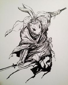 regram @kekai_kotaki Usagi Yojimbo #stansakai #inktober day 14