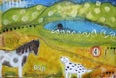 Tammy Hudgeon  Mixed media painting commission