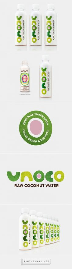 Unoco Raw Coconut Water Packaging re-designed by B&B studio - http://www.packagingoftheworld.com/2015/11/unoco-raw-coconut-water-redesigned.html