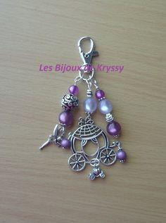 Bijou de sac - Argent - Cendrillon : Autres bijoux par les-bijoux-de-kryssy