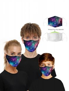 ivrose / Sky Print Mouth Mask Breathable Washable And Reusable With Replaceable Filter Trend Fashion, Women's Fashion, Warm In The Winter, Ares, Print Packaging, Mouth Mask, Skull Print, Head Wraps, Filters