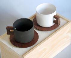 The perfect merging of 2 beautiful materials...porcelain and a rich American Black Walnut.Han...