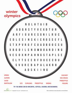 Winter Olympics Worksheets | Winter Olympics Third Grade Puzzles & Sudoku Worksheets: Winter ...