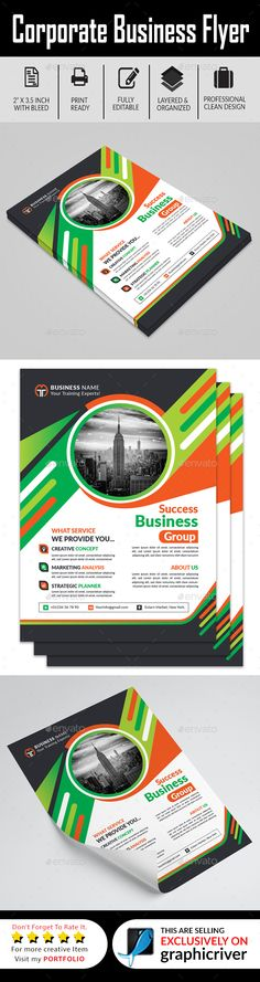 Corporate Business Flyer This is a Business Flyer for Corporate use. This template download contains 300 DPI, Print-Ready, CMYK, Both AI Illustrator & Vector EPS File. All main elements are editable and customize able. Features:Easy Customize able and Editable Business Flyer Design in A4 Size with Bleed Setting (0.25 inch) CMYK Color Mode Design in 300 DPI Resolution Print