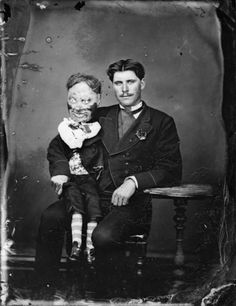 Ventriloquist with dummy