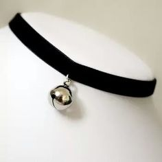 Buy Vintage Black Velvet Choker Collar Bell Pendant Sexy Gothic Clavicle Chain at Wish - Shopping Made Fun Cat Necklace, Collar Necklace, Pendant Necklace, Diy Collier, Diamond Solitaire Necklace, Diamond Pendant, Gothic Jewelry, Jewelry Accessories, Jewelry Box