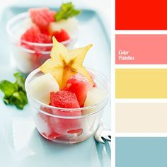 Summer Color Palette for design inspiration