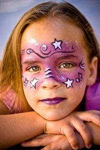 Girl with star painting on face