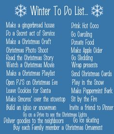 winter to-do list