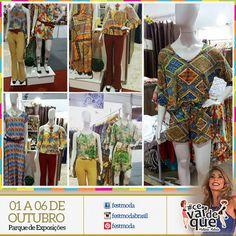 E que tal os looks da nossa expositora @rgmodafashion que estão super em evidência na nova coleção Primavera - Verão/2015. Mix com estampas tantos nos vestidos, macaquinhos e camisetas estão lindos.