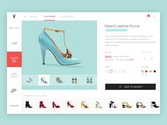 Product detail page for a store front. Please click attachment for larger view Responsive Web Design, Ui Ux Design, Mobiles Webdesign, Ecommerce Webdesign, Web Layout, User Interface Design, Mobile Design, Patent Leather Pumps, Web Design Inspiration