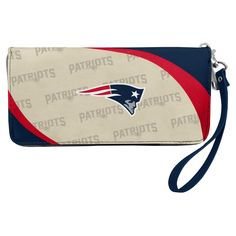 f27b13c014f NFL New England Patriots Curve Zip Organizer Wallet, Women's  #walletorganization Nfl Dallas Cowboys,