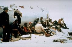 The Andes survivors taken from a colour film camera found in the tail piece of the plane.