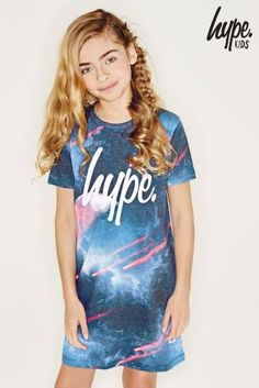 Buy Black Hype Shooting Stars T-Shirt Dress from the Next UK online shop