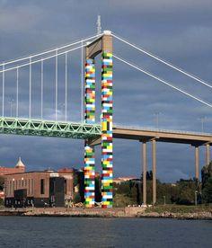 LEGO Bridge by Christo Guelov in Gothenburg, Sweden, 2017 (LP)