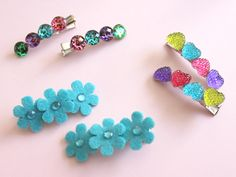 ADORABLE DIY HAIR CLIPS FOR LITTLE GIRLS