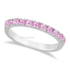 CERTIFIED 1.00 Ct ROUND PINK SAPPHIRE SOLITAIRE 14K WHITE GOLD ENGAGEMENT RING #DiscoverDiamond #Solitaire