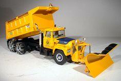 toy snow plow trucks toys | New York - Mack R Dump Truck with Snow Plow