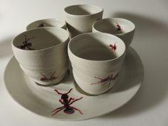 Kunsthandwerk von Freunberger-Keramik Tableware, Ant, Stoneware, Arts And Crafts, Tumblers, Dinnerware, Tablewares, Dishes, Place Settings