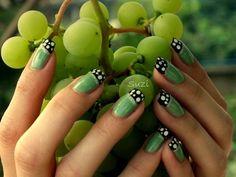 Green Like a Grape  #nails #frenchmani #nailart - bellashoot.com