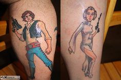 Hans Solo and Princess Leah couples tattoo - create a profile on talesofthetatt.com, show off your tattoo's and tell your stories. Or network with other tattoo enthusiasts without limitations or big brother bs!