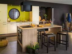 Visit the post for more. Küchen Design, House Design, Colorful Decor, Modern Decor, Kitchen Remodel, Kitchen Decor, Living Spaces, Interior Decorating, Sweet Home
