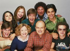 Jackie, Donna, Eric, Bob, Fez, Hyde, Red, Kitty and Kelso <3 That 70's Show