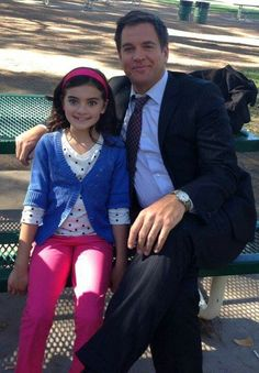 Michael Weatherly and Zoey Diaz, NCIS.