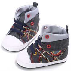 >> Click to Buy << Infant Toddler Boys Girls Casual Baby Autumn Canvas Patchwork Lace Up Kids Anti-skid First Walkers Shoes #Affiliate