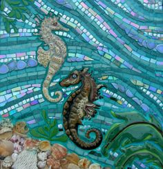Seahorse Mosaic Seahorse Fantasy by FireflyFusions on Etsy, $800.00