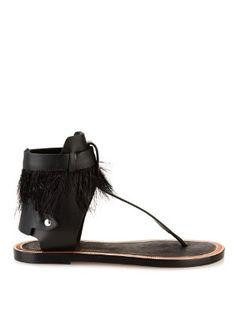 Jadyn feather and leather sandals   Isabel Marant   MATCHESFASHION.COM UK