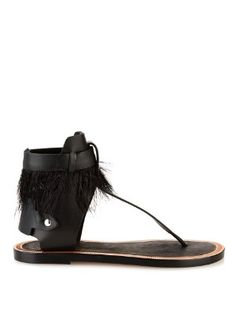 Jadyn feather and leather sandals | Isabel Marant | MATCHESFASHION.COM UK