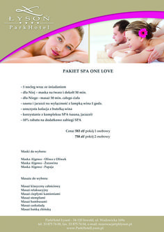 Pakiet One Love. #SPA #relax #rest #pleasure #relaxation #massage #onelove #mask #accommodation #hotel