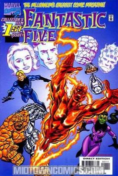 It doesn't take much to one-up the #FantasticFour in the just added Fantastic Five back issues!