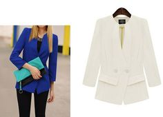 Double Breasted Shirred Waist Blazer