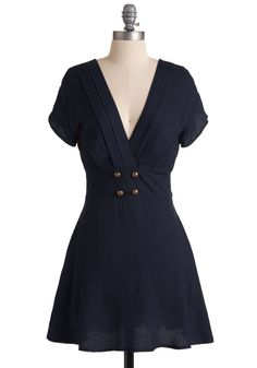 Four Square Dress in Navy | Mod Retro Vintage Dresses | ModCloth.com