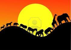 Animaux Afrique Parade Banque d'images