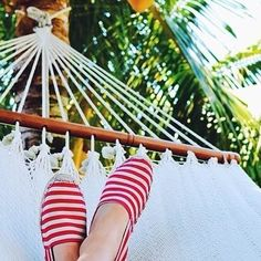 Nap time at the Soludos office... We wish! #soludos #soludossummer #stripes