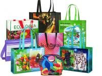 Custom made polypro eco-friend tote bags, fully sublimated and a all over imprinted design. #FemmePromo, #promotionaltotes, #promotionaltotebags
