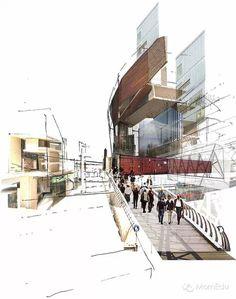 在效果图上用透视效果表现建筑建构