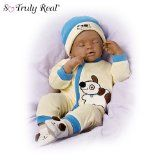 Ashton-Drake African-American Breathing Baby Boy Doll Marcus in Dolls & Bears, Dolls, By Brand, Company, Character Live Baby Dolls, Life Like Baby Dolls, Life Like Babies, Cute Babies, Baby Kids, Baby Boy, Reborn Toddler Dolls, Reborn Dolls, Reborn Babies