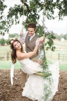 21 Times We Fell in Love with the Floral Tree Swing - MODwedding