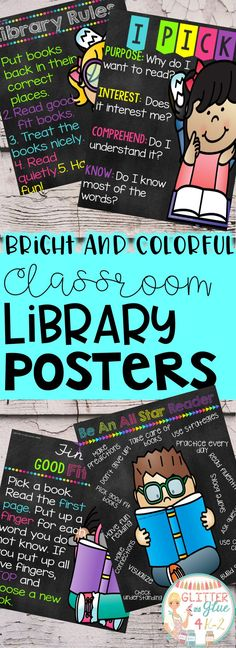 Looking for some new posters for your classroom library? This product includes 6 different posters in three different color combinations. It includes a neon and chalk theme, a neon and white theme, and a black and white theme. Keywords: library, classroom décor, classroom, neon classroom, chalk classroom, bright colors, classroom inspiration